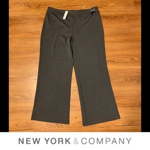 NWT NY&Co Wide Leg Grey Pants